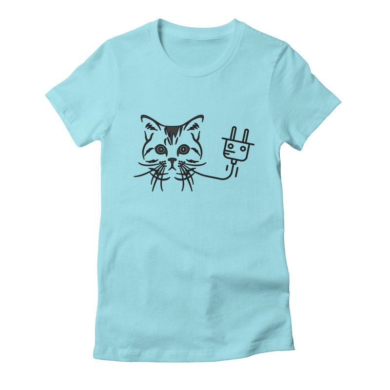 Pussy Power Women's Fitted T-Shirt by Super Normal Shop