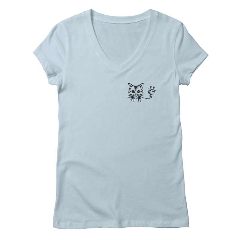Low Key Pussy Power Women's Regular V-Neck by Super Normal Shop
