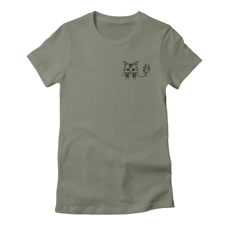 Low Key Pussy Power Women's Fitted T-Shirt by Super Normal Shop