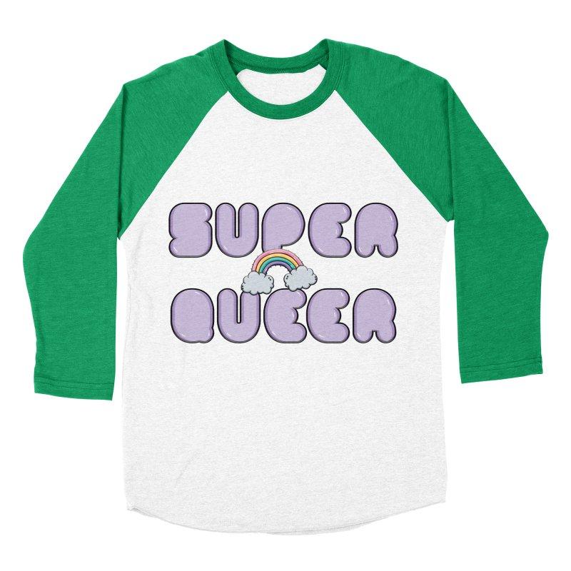 Super Queer Men's Baseball Triblend Longsleeve T-Shirt by Super Normal Shop