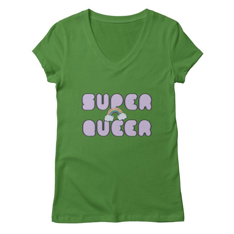 Super Queer Women's Regular V-Neck by Super Normal Shop