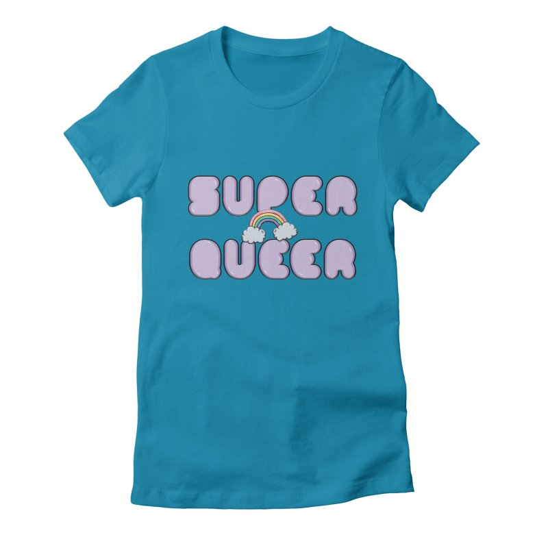Super Queer Women's Fitted T-Shirt by Super Normal Shop