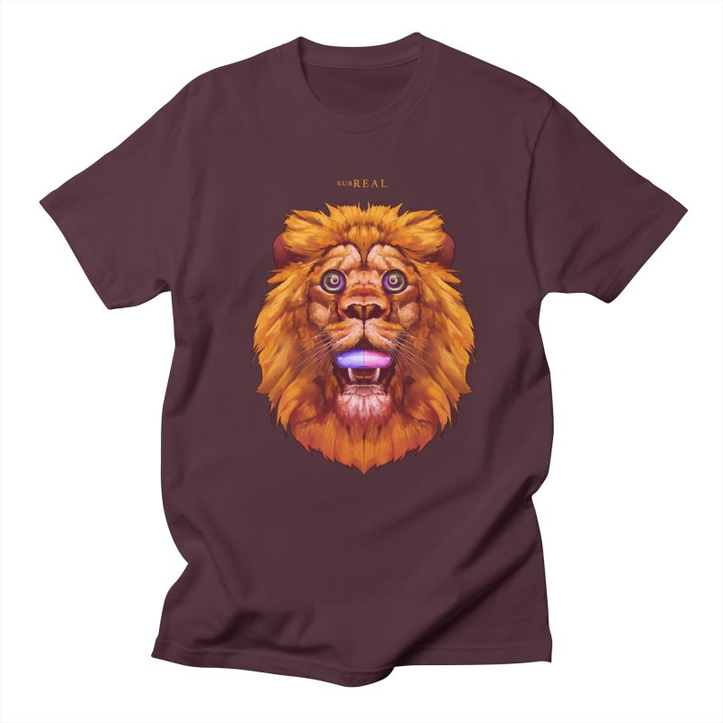 Lion - Gatos Psicodelico Men's T-Shirt by SurRealStore's Artist Shop