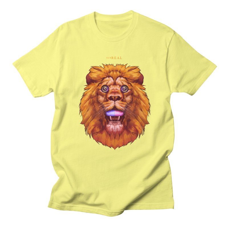 Lion - Gatos Psicodelico Men's T-Shirt by SurRealStore's Artist Shop