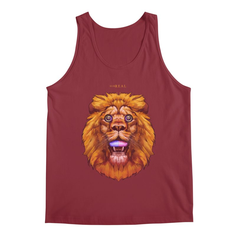 Lion - Gatos Psicodelico Men's Tank by SurRealStore's Artist Shop