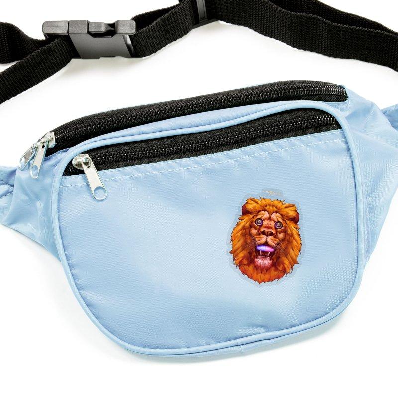 Lion - Gatos Psicodelico Accessories Sticker by SurRealStore's Artist Shop