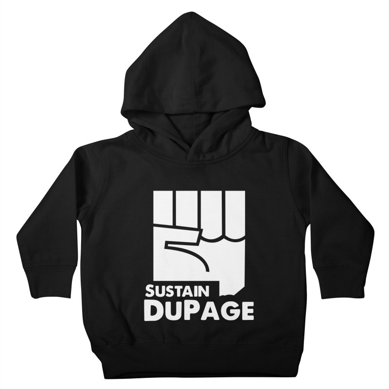 Sustain DuPage Hoody in Kids Toddler Pullover Hoody Black by Sustain DuPage's Artist Shop