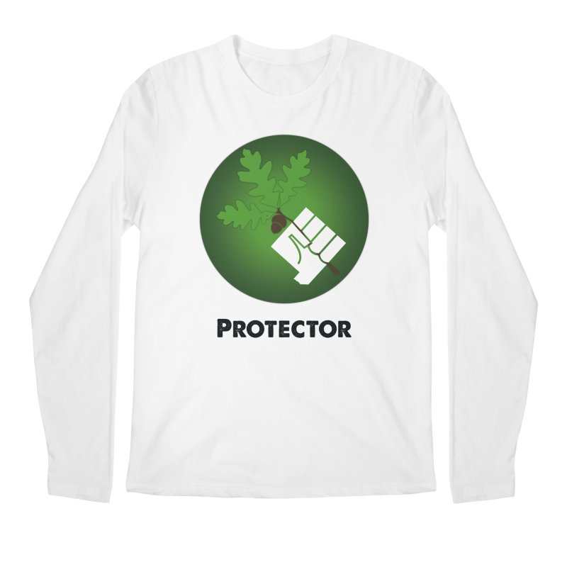 Protector in Men's Longsleeve T-Shirt White by Sustain DuPage's Artist Shop