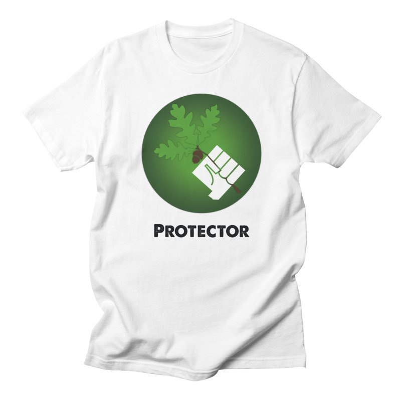 Protector in Women's Unisex T-Shirt White by Sustain DuPage's Artist Shop