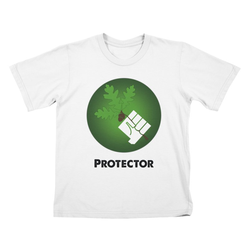 Protector in Kids T-Shirt White by Sustain DuPage's Artist Shop