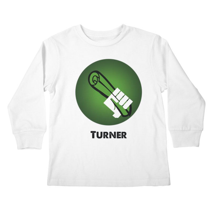 Turner in Kids Longsleeve T-Shirt White by Sustain DuPage's Artist Shop
