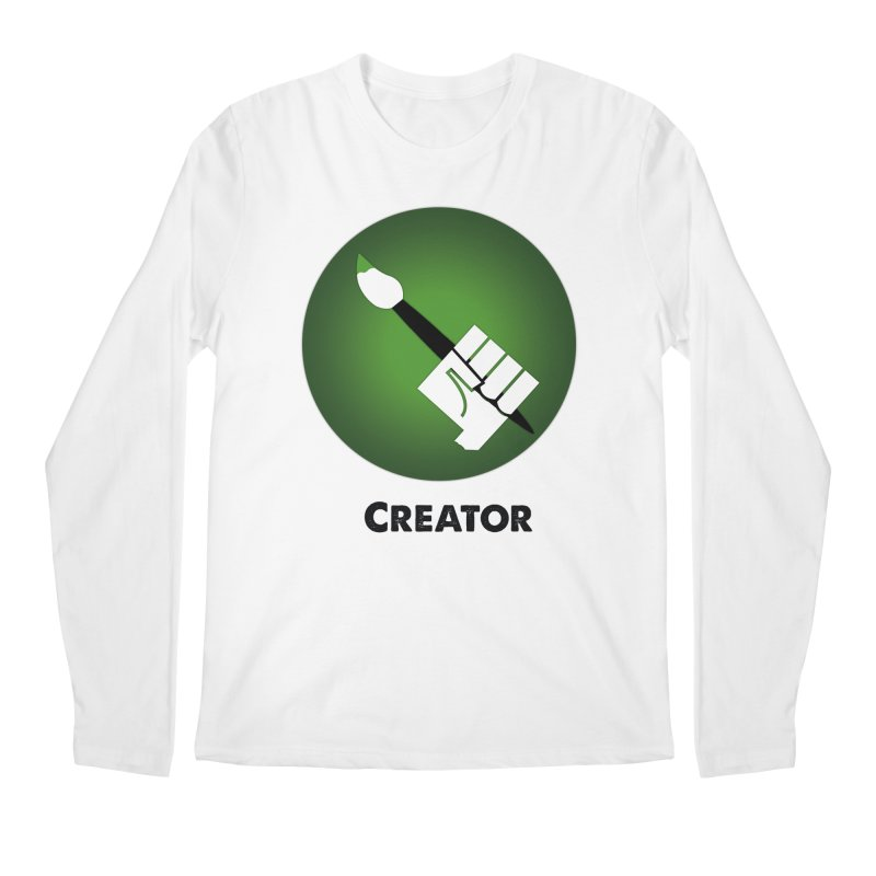 Creator in Men's Longsleeve T-Shirt White by Sustain DuPage's Artist Shop