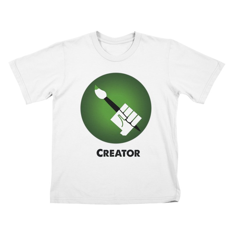 Creator in Kids T-Shirt White by Sustain DuPage's Artist Shop