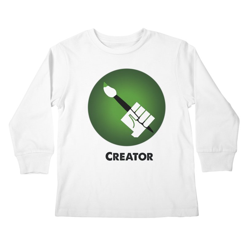 Creator in Kids Longsleeve T-Shirt White by Sustain DuPage's Artist Shop