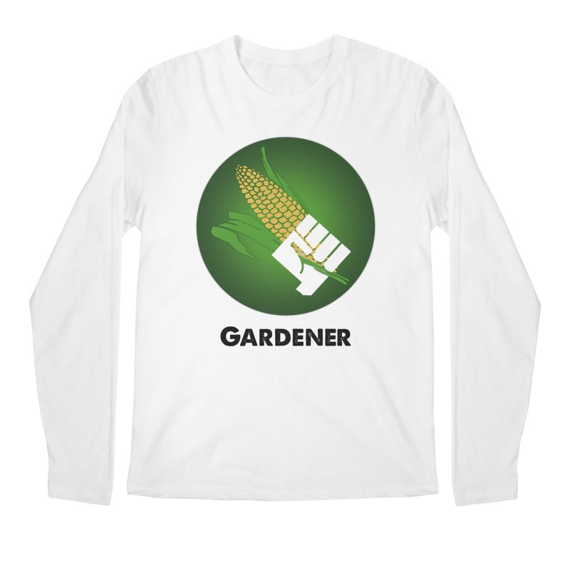 Gardener in Men's Longsleeve T-Shirt White by Sustain DuPage's Artist Shop