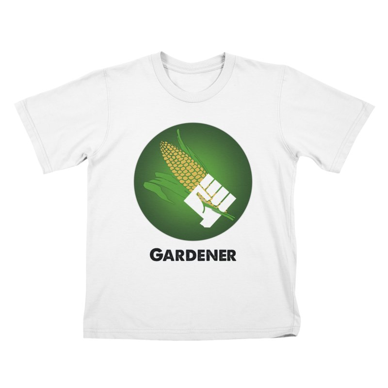 Gardener in Kids T-Shirt White by Sustain DuPage's Artist Shop