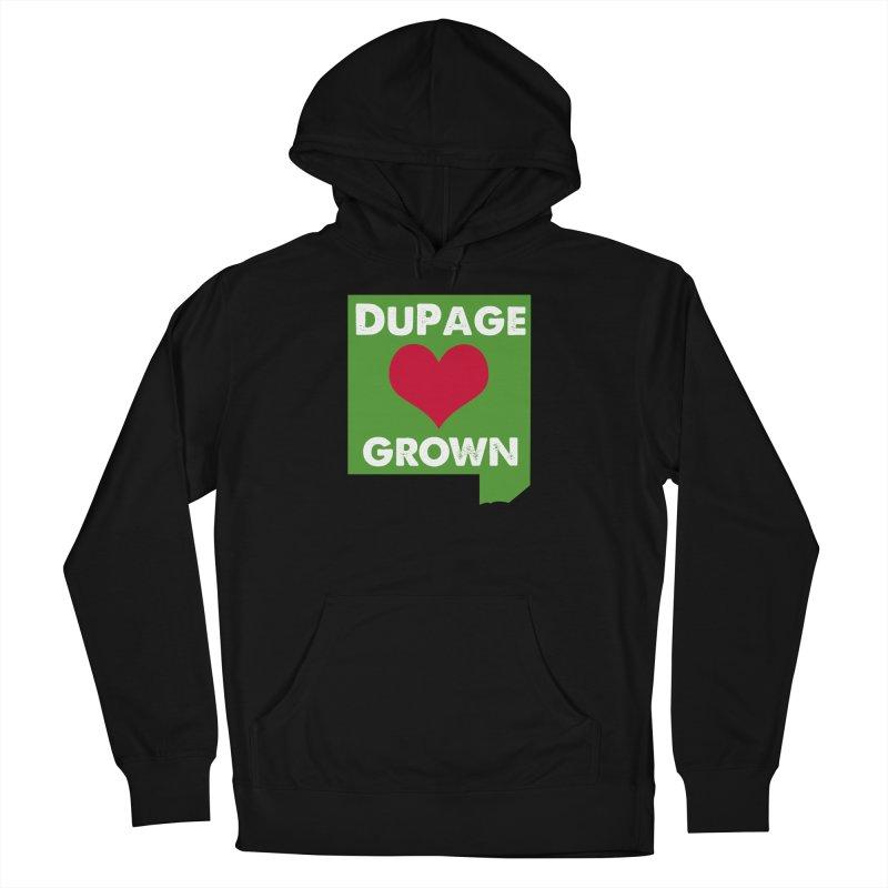 DuPageGrown in Women's Pullover Hoody Black by Sustain DuPage's Artist Shop