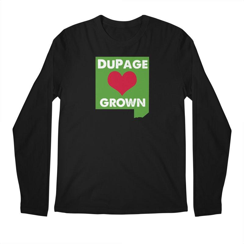 DuPageGrown in Men's Longsleeve T-Shirt Black by Sustain DuPage's Artist Shop