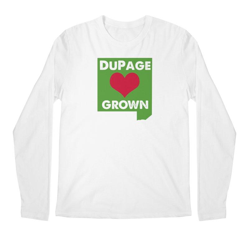 DuPageGrown in Men's Longsleeve T-Shirt White by Sustain DuPage's Artist Shop