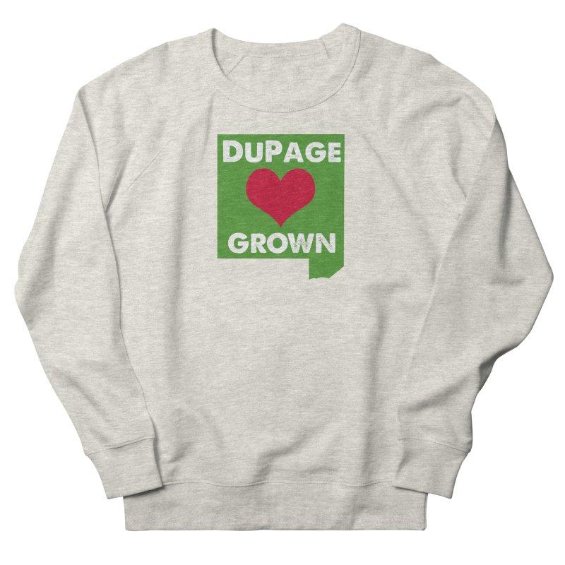 DuPageGrown in Women's Sweatshirt Heather Oatmeal by Sustain DuPage's Artist Shop