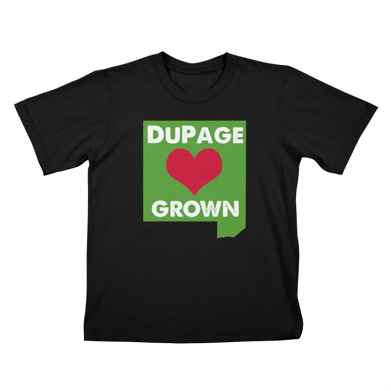 DuPageGrown in Kids T-Shirt Black by Sustain DuPage's Artist Shop