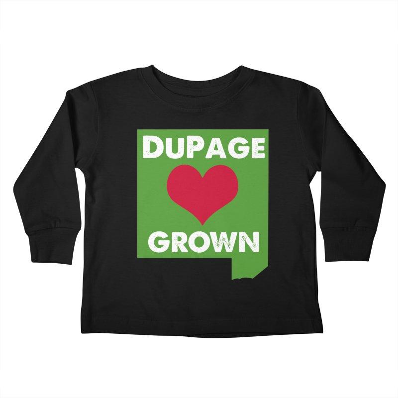 DuPageGrown Kids Toddler Longsleeve T-Shirt by Sustain DuPage's Artist Shop