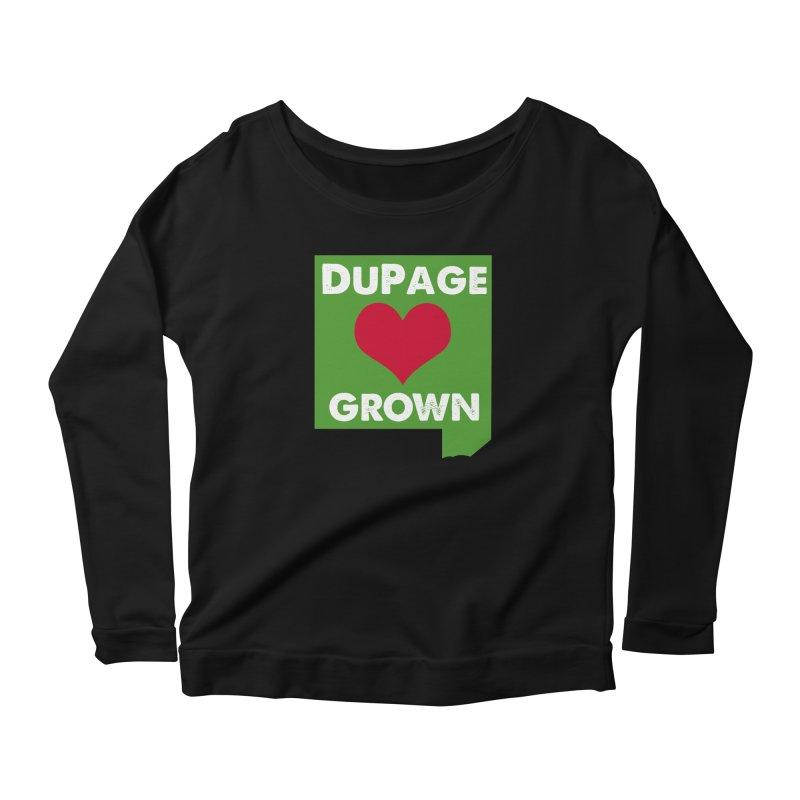 DuPageGrown in Women's Longsleeve Scoopneck  Black by Sustain DuPage's Artist Shop