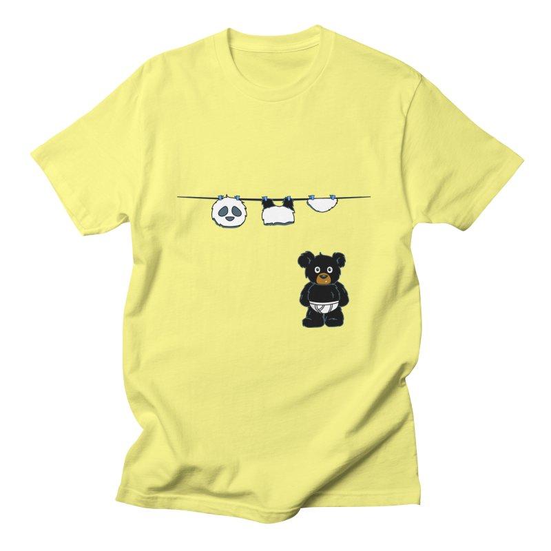 This Black Bear Has A Secret Men's T-Shirt by No Porridge No Rice