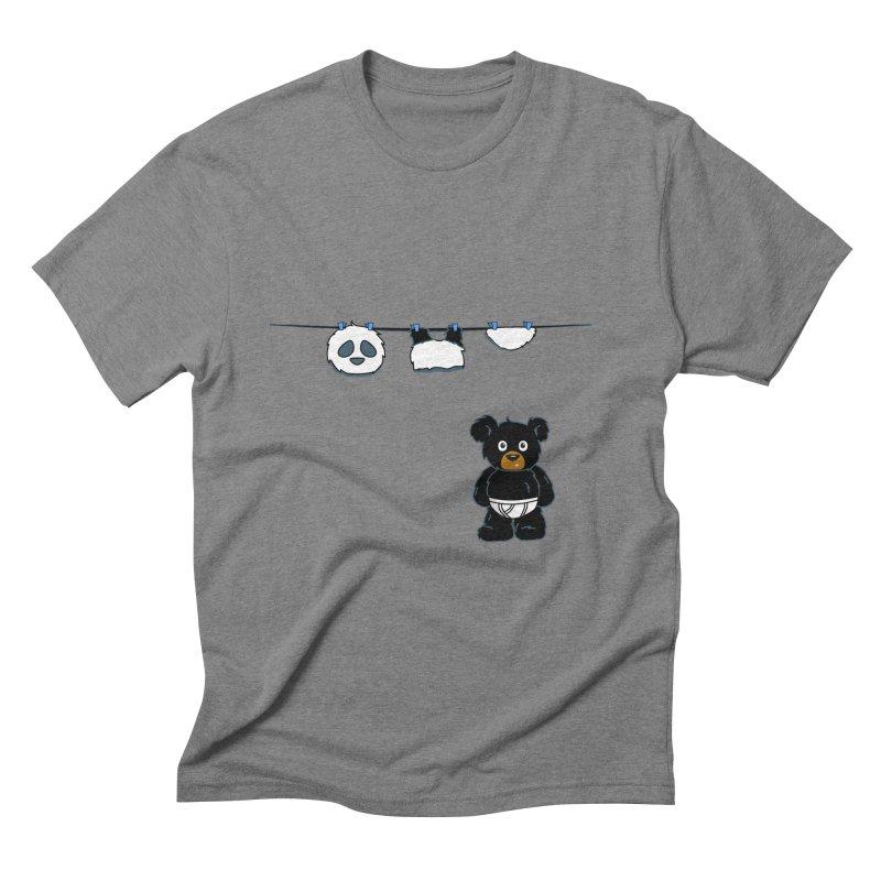 This Black Bear Has A Secret Men's Triblend T-Shirt by No Porridge No Rice