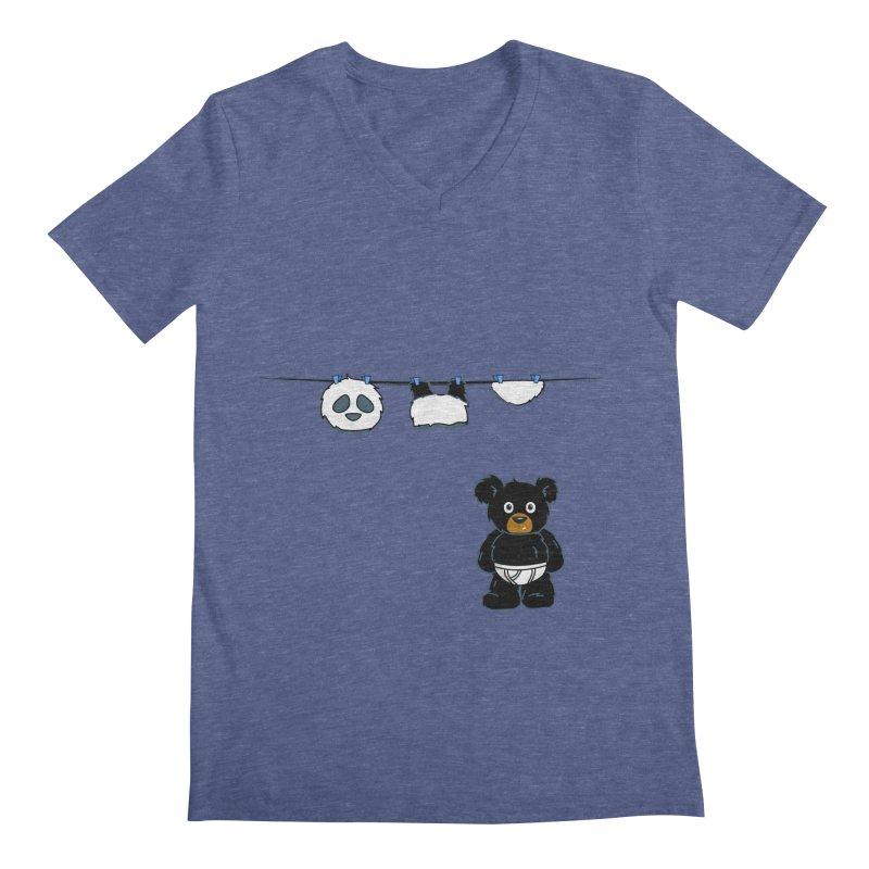 This Black Bear Has A Secret Men's Regular V-Neck by No Porridge No Rice