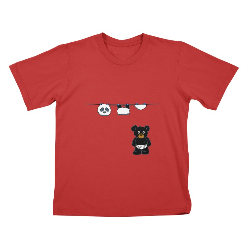 This Black Bear Has A Secret Kids T-Shirt by No Porridge No Rice
