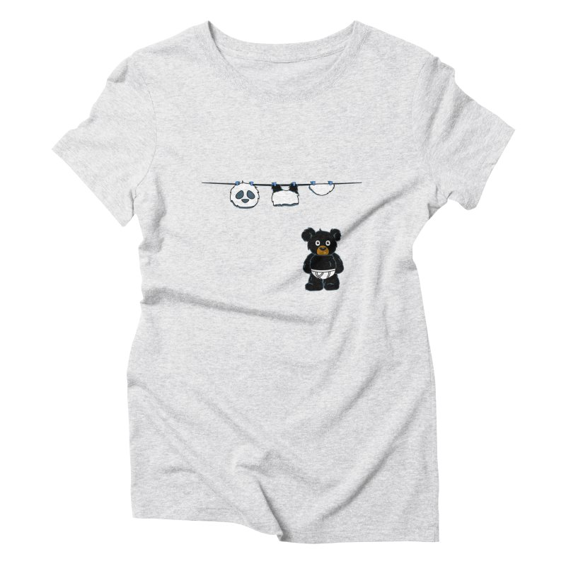 This Black Bear Has A Secret Women's Triblend T-Shirt by No Porridge No Rice
