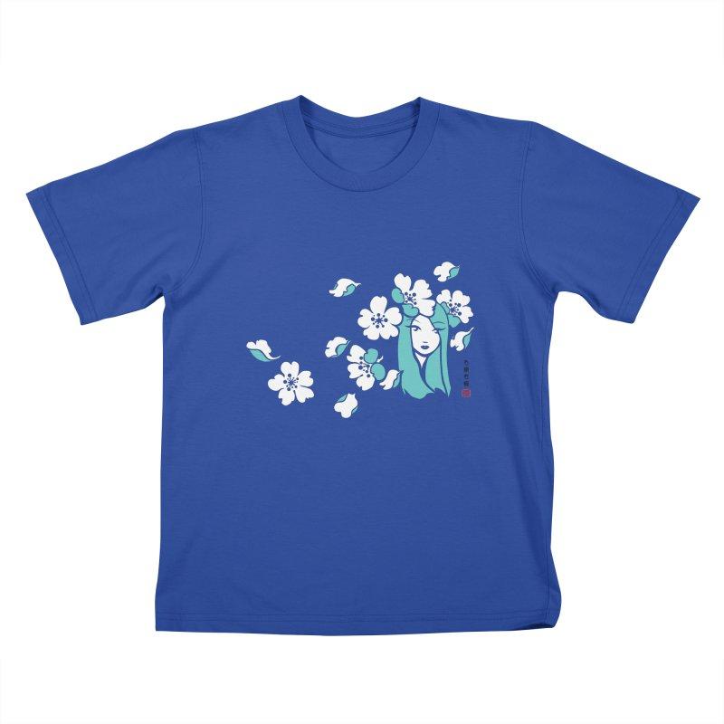 Sakura Girl Kids T-Shirt by No Porridge No Rice