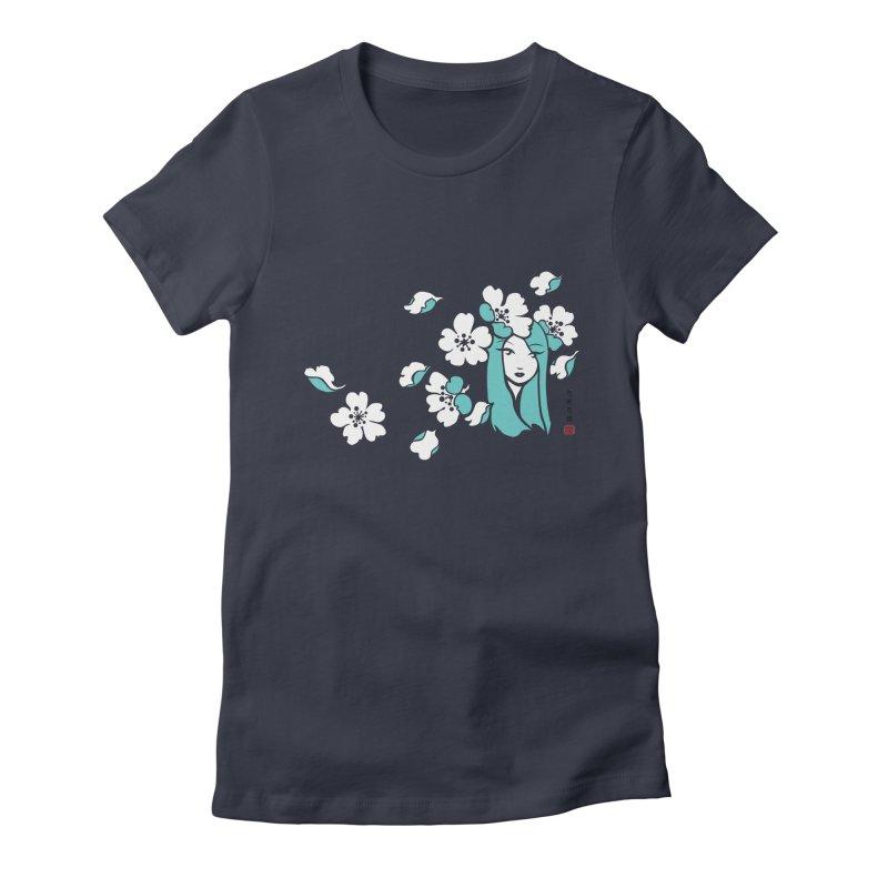 Sakura Girl Women's Fitted T-Shirt by No Porridge No Rice