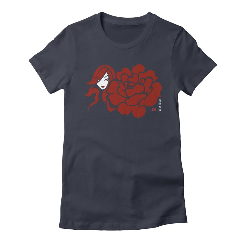 Asian Rose Women's Fitted T-Shirt by No Porridge No Rice