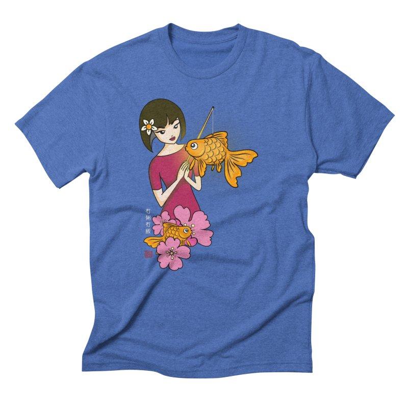 The Girl with the Goldfish Lantern Men's T-Shirt by No Porridge No Rice