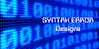 Syntax Error Designs' Artist Shop Logo