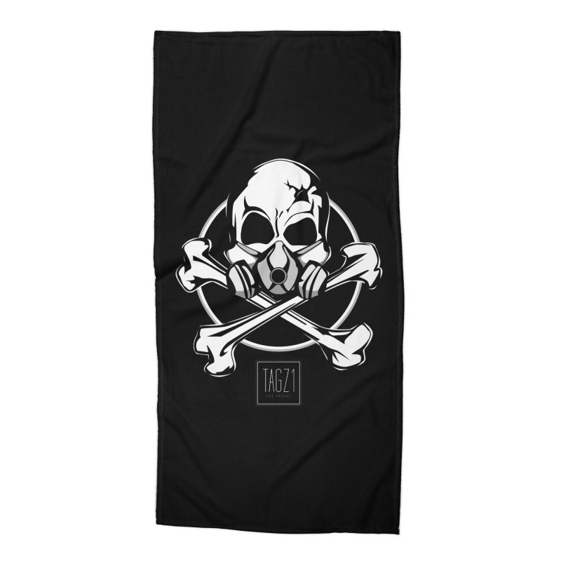 TAGZ1 Skull Logo Accessories Beach Towel by TAGZ1