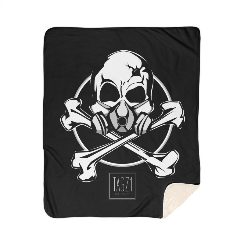 TAGZ1 Skull Logo Home Sherpa Blanket Blanket by TAGZ1