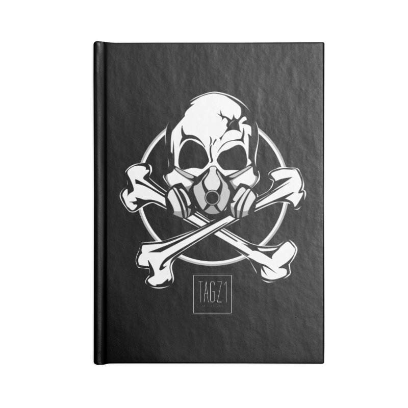 TAGZ1 Skull Logo Accessories Lined Journal Notebook by TAGZ1
