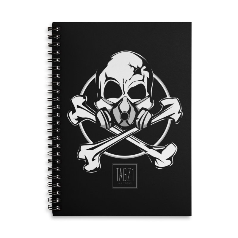 TAGZ1 Skull Logo Accessories Lined Spiral Notebook by TAGZ1