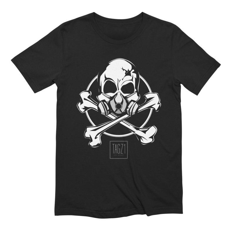 TAGZ1 Skull Logo Men's T-Shirt by TAGZ1