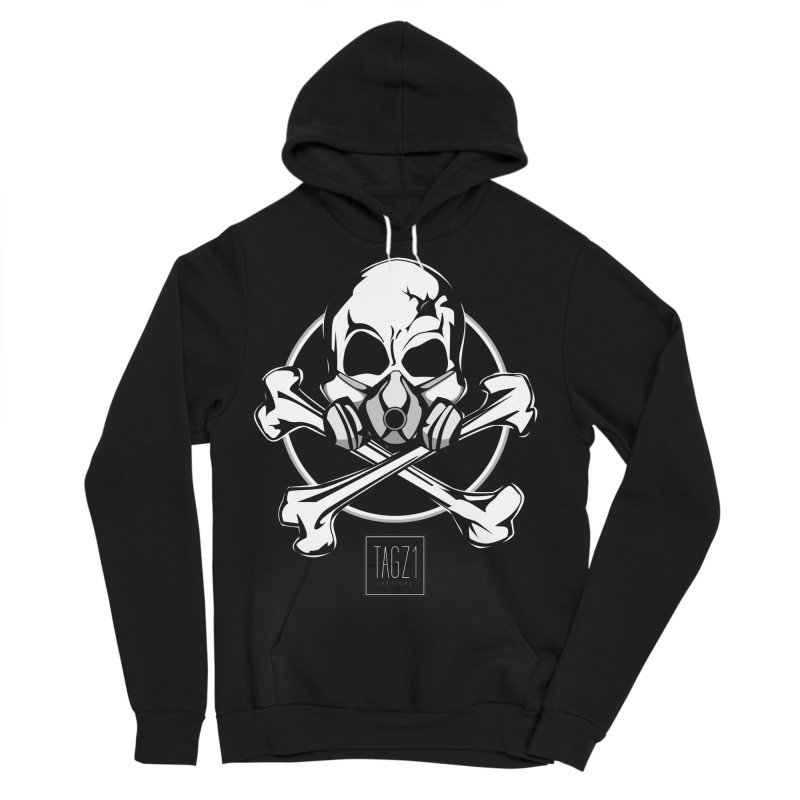 TAGZ1 Skull Logo Men's Sponge Fleece Pullover Hoody by TAGZ1