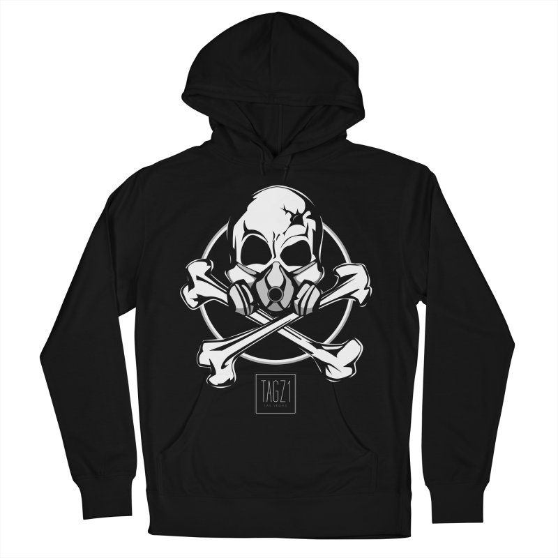 TAGZ1 Skull Logo Women's French Terry Pullover Hoody by TAGZ1