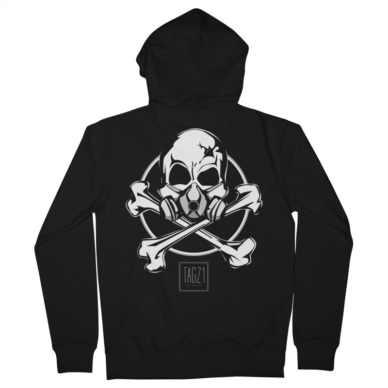 TAGZ1 Skull Logo Men's French Terry Zip-Up Hoody by TAGZ1