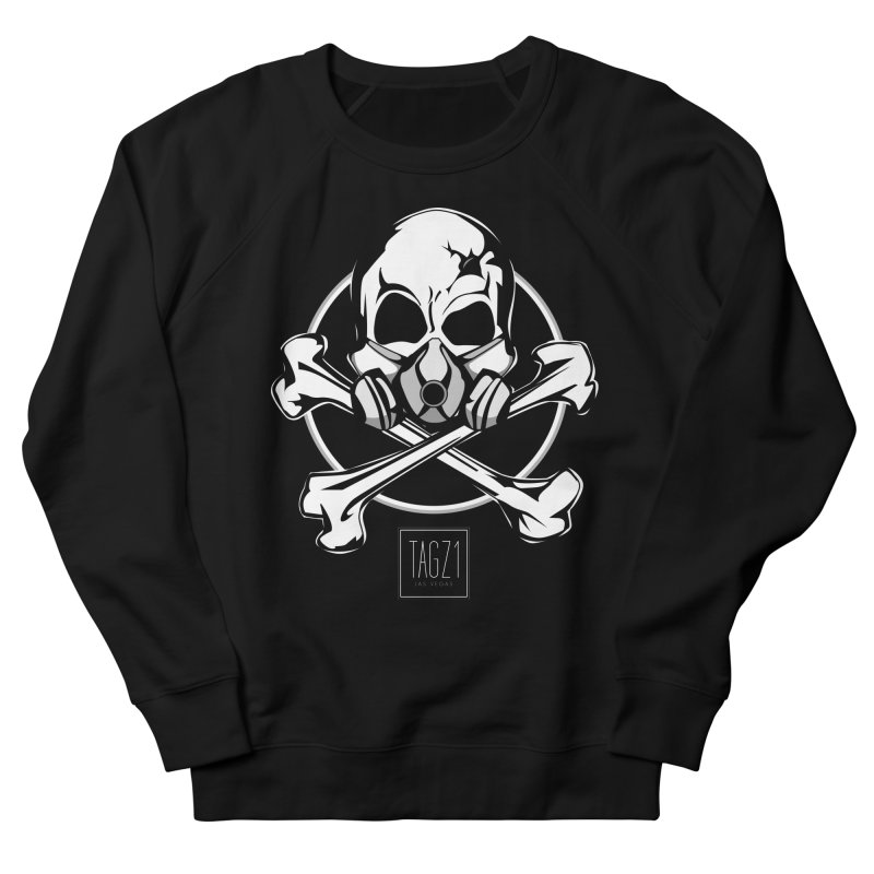 TAGZ1 Skull Logo Men's French Terry Sweatshirt by TAGZ1