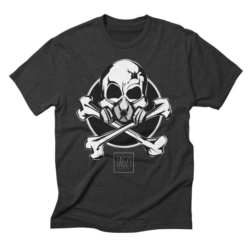 TAGZ1 Skull Logo Men's Triblend T-Shirt by TAGZ1
