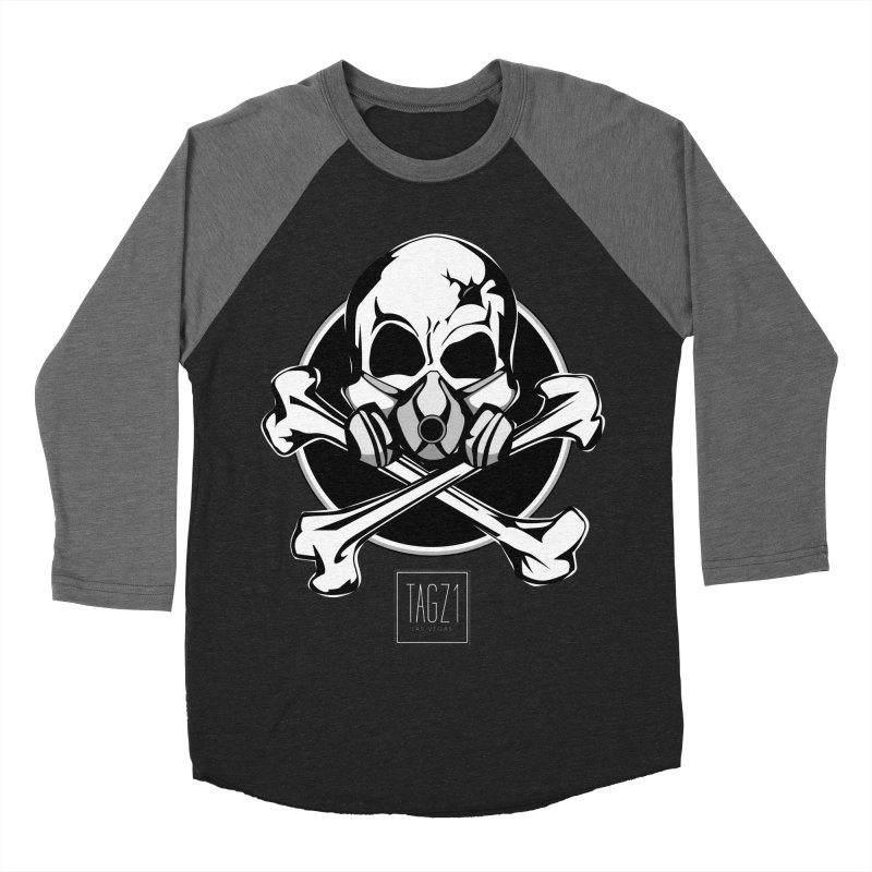 TAGZ1 Skull Logo Men's Baseball Triblend Longsleeve T-Shirt by TAGZ1