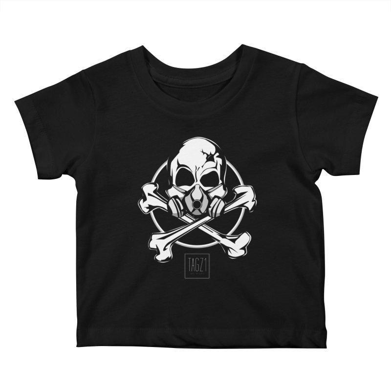 TAGZ1 Skull Logo Kids Baby T-Shirt by TAGZ1
