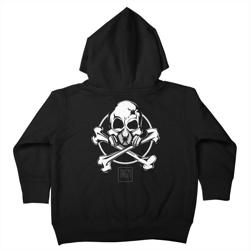 TAGZ1 Skull Logo Kids Toddler Zip-Up Hoody by TAGZ1